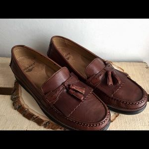 Men's Dockers Size 10M Brown Double Tassel Loafer